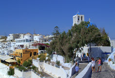 Summer streets of Santorini ,Greece Royalty Free Stock Images