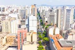 Streets in Sao Paulo Stock Image