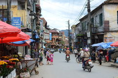 Streets of Sapa, Vietnam Royalty Free Stock Photography