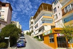 Streets in Saranda, Albania Stock Photos
