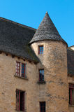 Streets of Sarlat, French medieval town Royalty Free Stock Images