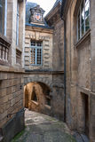 Streets of Sarlat, medieval town, Dordogne, Aquitaine, France Royalty Free Stock Photos
