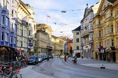 Streets scene downtown Innsbruck Stock Images