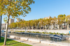 Streets, scenes and architecture Narbonne, France. Royalty Free Stock Photo