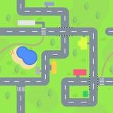 Streets seamless pattern royalty free illustration