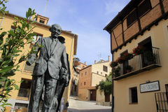 Streets of Segovia. Statue in the street of Segovia, Spain Stock Images