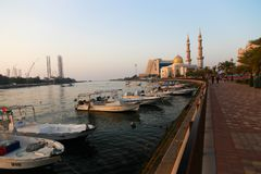 Streets of Sharjah - Emirates Royalty Free Stock Photos
