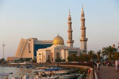 Streets of Sharjah - Emirates Royalty Free Stock Photography