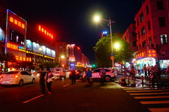 The streets of Shenzhen on the night of the landscape Stock Images
