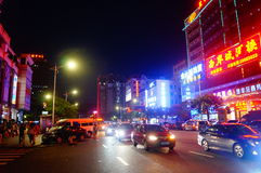 The streets of Shenzhen on the night of the landscape Royalty Free Stock Photography