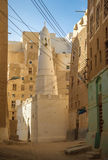 Streets of Shibam, Hadhramaut province, Yemen Stock Photos