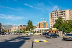 In the streets in Shkodra. stock images