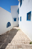 Streets of Sidi Bou Said Stock Images