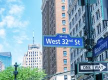 Streets signs in Midtown, New York City Stock Photos