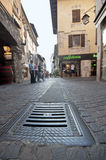 At the Streets of Sirmione Stock Photo