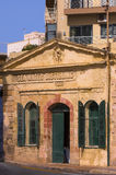Malta - Streets of Sliema. Old building of the first sea water distillery on the island - Sliema, Malta Royalty Free Stock Image