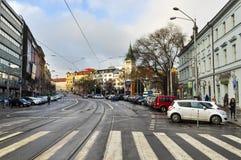 Streets of Slovakia capital Bratislava City Stock Photography
