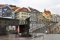 Streets of Slovakia capital Bratislava City Stock Image