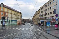 Streets of Slovakia capital Bratislava City Royalty Free Stock Photos