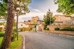 Streets of small hilltop village. Streets of a small hilltop village in Emilia Romagna in Italy Royalty Free Stock Image