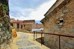 Streets of the small old town Ares in Spain. Stock Image