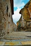 Streets of the small old town Ares in Spain. Royalty Free Stock Photos