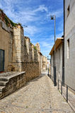 Streets of the small spanish own Morella. Royalty Free Stock Photos