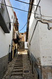 Streets of the small spanish own Morella. Stock Photo
