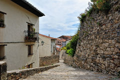 Streets of the small spanish own Morella. Stock Photos