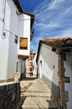 Streets of the small spanish town Morella. Stock Images