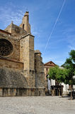 Streets of the small spanish town Morella. Royalty Free Stock Photo
