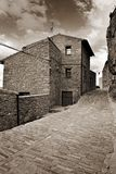 Streets of the small town. Ares in Spain. Royalty Free Stock Image