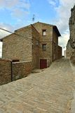 Streets of the small town Ares in Spain. Royalty Free Stock Photos