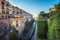 Streets of Sorrento, popular resort in the Bay of Naples, Southe. Rn Italy Royalty Free Stock Photo