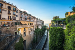 Streets of Sorrento, popular resort in the Bay of Naples, Southe Stock Image