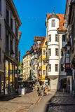 In the streets of St.Gallen Stock Photos