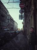 The Streets Of St. Petersburg Royalty Free Stock Photo