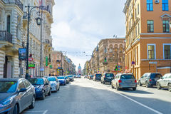 The streets of St Petersburg royalty free stock photography