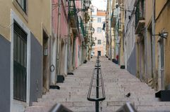 Streets and stairs, Lisbon Stock Photo