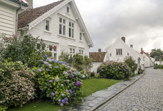 Streets of stavanger. In southern Norway on a cloudy day Stock Photo