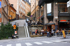 Streets of Stockholm Royalty Free Stock Photography