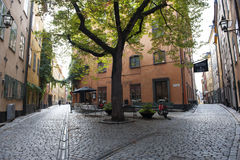 Streets in Stockholm royalty free stock photo
