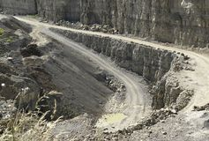 Streets in a stone pit Royalty Free Stock Photo