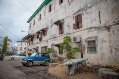 Streets of Stone Town stock photos