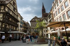 Streets of Strasbourg Stock Photo