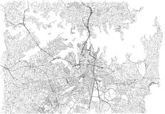 Streets of Sydney, city map, Australia. Street map. Vector map of the city of Sydney royalty free illustration