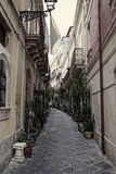 Streets in Syracuse. Typical old, narrow and dirty streets in Syracuse in Sicily, Italy Royalty Free Stock Image