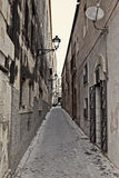 Streets in Syracuse. Typical old, narrow and dirty streets in Syracuse in Sicily, Italy Stock Photography
