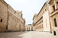 Streets in Syracuse. Typical streets in Syracuse in Sicily, Italy Royalty Free Stock Photography