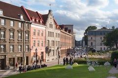 Streets of Tallinn Harju Street stock images